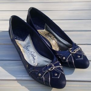 SAM EDELMAN BLUE LEATHER SUEDE SHOES